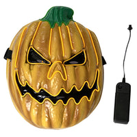 Halloween Led Light Up Mask Glowing Pumpkin Cosplay Rave Mask Masquerade El Wire Cosplay Mask