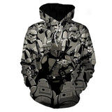 Unisex Star Wars Hoodies Streetwear Autumn Winter Coat Imperial Stormtrooper Printed Pullover Hoodie Sweatshirt