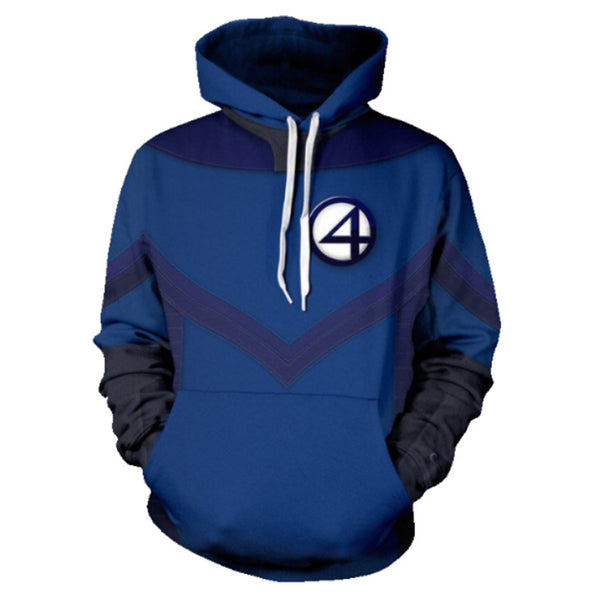Unisex Fantastic Four Cosplay Hoodies Teens Novelty Hooded Sweatshirts Pullover Outerwear Sportswear