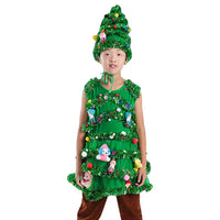 Children Christmas Tree Cosplay Costumes Green Trees Kids Party Wear Shrubs Halloween Costume