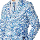 Halloween Men Crazy Party Costume Suit in Funny Amoeba Designs – Comes with Jacket, Pants and Tie