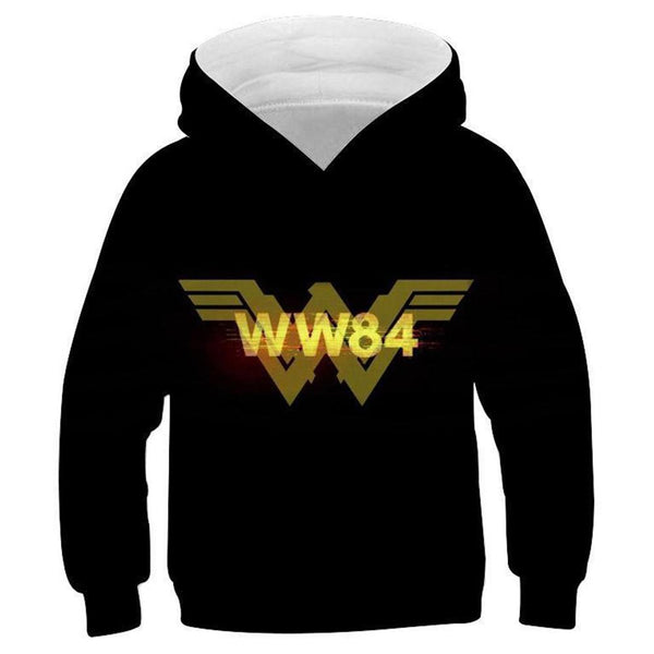 Kids Wonder Woman 1984 Hoodies 3D Print Pullover Sweatshirt Outfit Cosplay Casual Outerwear