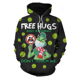 Unisex How the Grinch Stole Christmas Hoodie Men Women Long Sleeve Hooded Pullover Sweatshirts Street Style Clothes
