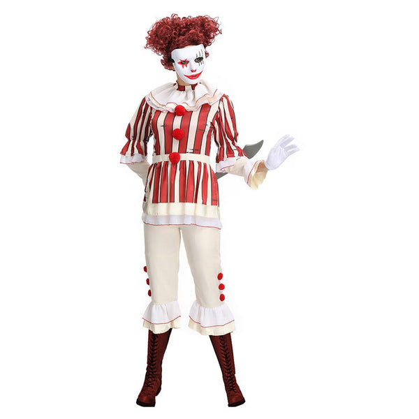 Halloween Adult Horror Clown Cosplay Costume Stage Performance Outfit