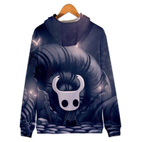 Unisex Hollow Knight Cosplay Hoodies Long Sleeve Zip Up Sportswear Casual Sweatshirt