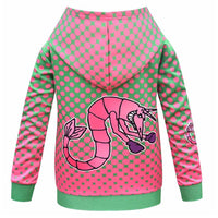 Kids Z-O-M-B-I-E-S ZOMBIES 2 Hoodies 3D Print Zip Up Sweatshirt Outfit Addison Cosplay Casual Outerwear