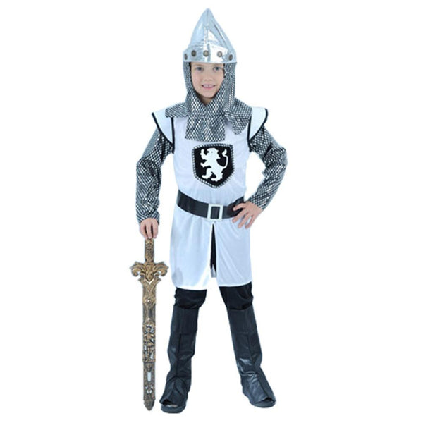 Kids Halloween Cosplay Masquerade Party Royal Warrior Knight Costumes Boys Soldier Children Set