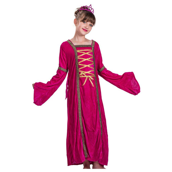 Girls Regal Queen Princess Victorian Party Dress Kids Halloween Costume