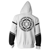 Unisex THE KING OF FIGHTERS Hoodies 3D Print Zip Up Sweatshirt Outfit Orochi Cosplay Casual Outerwear