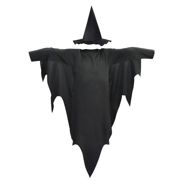 Kids Halloween Witch Robe Cloak Fancy Dress Halloween Masquerade Cosplay Costume Cape with Hat