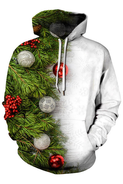 Men Ugly Christmas Sweater Letter Print 3D Graphic Print Hoodie