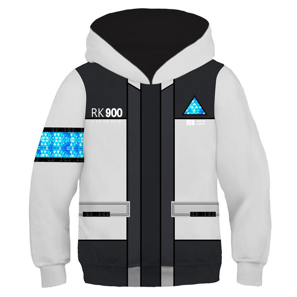Kids Detroit: Become Human Cosplay Hoodies Boys Girls Long Sleeve Casual Pullover Sweatshirt