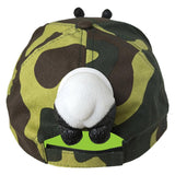 Kids Summer Adjustable Snap Back Flat Brim Outdoor Baseball Cartoon Hat Panda Hip Hop Cap