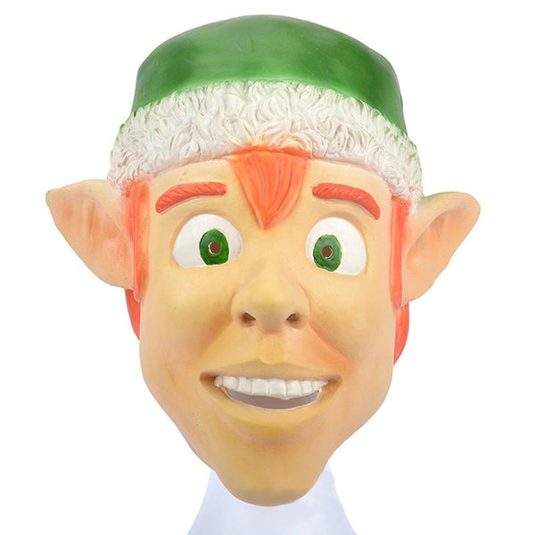 Christmas Elf Mask Full Face Holiday Party Latex Mask Christmas Fancy Costume Accessories