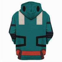 Anime My Hero Academia Pullover Hoodies Sweatshirt Midoriya Izuku Cosplay Cartoon Casual Hoody Coat Streetwear