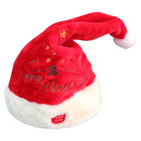 Electric Toy Christmas Hat Red Velvet Embroidered Music Swing Cap Party Decoration Christmas Gift Music Swing Hat