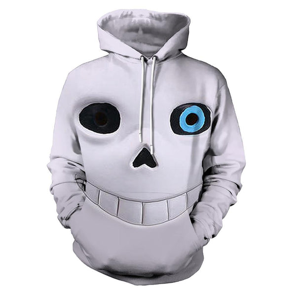 Unisex Undertale Hoodies 3D Print Pullover Sweatshirt Outfit Sans Printed Casual Outerwear