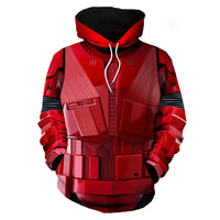Unisex Star Wars Hoodies 3D Print Pullover Sweatshirt Outfit Crimson Stormtrooper Cosplay Casual Outerwear