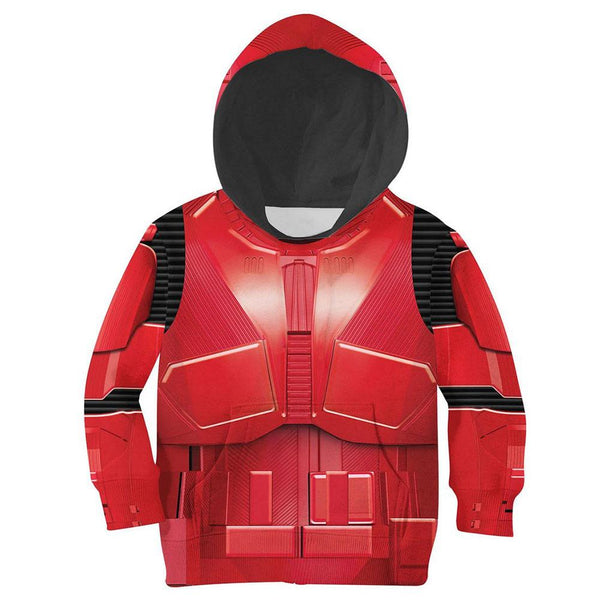 Kids Star Wars Hoodies Streetwear Autumn Winter Coat Crimson Stormtrooper Cosplay Pullover Hoodie Sweatshirt