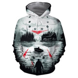 Unisex Friday the 13th Hoodie Sweatshirts Jason Voorhees 3D Hoodie Pullovers Cosplay Cloth