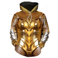 Unisex Wonder Woman 1984 Pullover Hoodies Sweatshirt Golden Eagle Armor Cosplay Casual Coat Streetwear