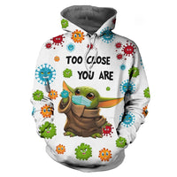 Unisex The Mandalorian Hoodie Baby Yoda Printed Men Women Long Sleeve Hooded Pullover Sweatshirts Clothes