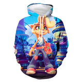 Unisex Crash Bandicoot Cosplay Hoodies Men Women Long Sleeve Casual Pullover Sweatshirt