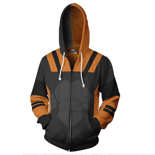 Unisex Slade Joseph Wilson Hoodies Deathstroke Cosplay Zip Up 3D Print Jacket Sweatshirt