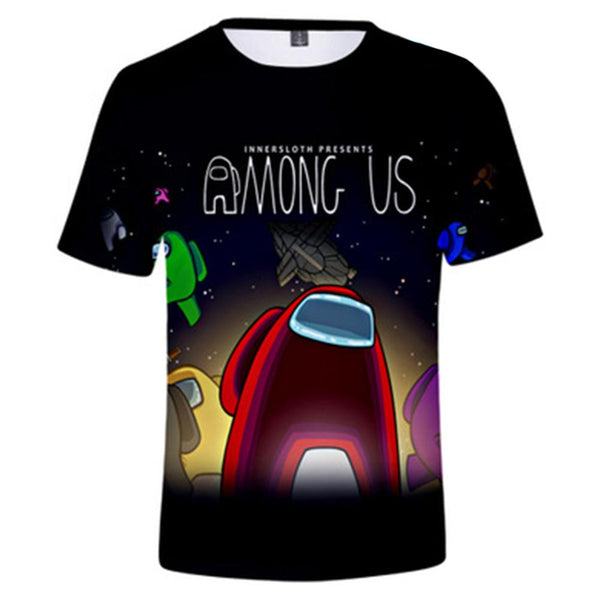 Unisex Game T-shirt Among Us Logo Printed Summer O-neck T-shirt Casual Street Shirts
