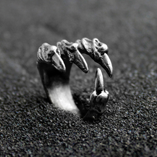 Halloween Stainless Steel Dragon Claw Rings Rock Punk Male Biker Rings For Men Vintage Gothic Jewelry