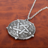 The Witcher 3: Wild Hunt Yennefer Medallion Choker Pendant Necklace Game Cosplay Silver Jewelry Gift