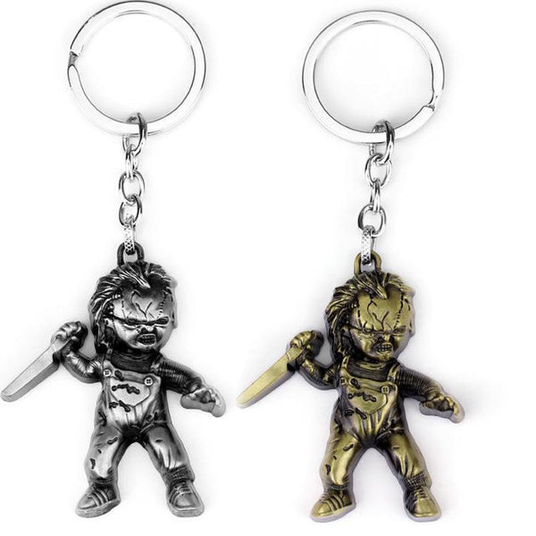 Horror Movie Keychain Jewelry Seed of Chucky Child's Play Chucky Curse Of Chuck Bronze Plated Keychain