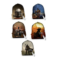 Students Movie School Book Bag Star Wars The Mandalorian Backpack Teenagers Shoulder Bags