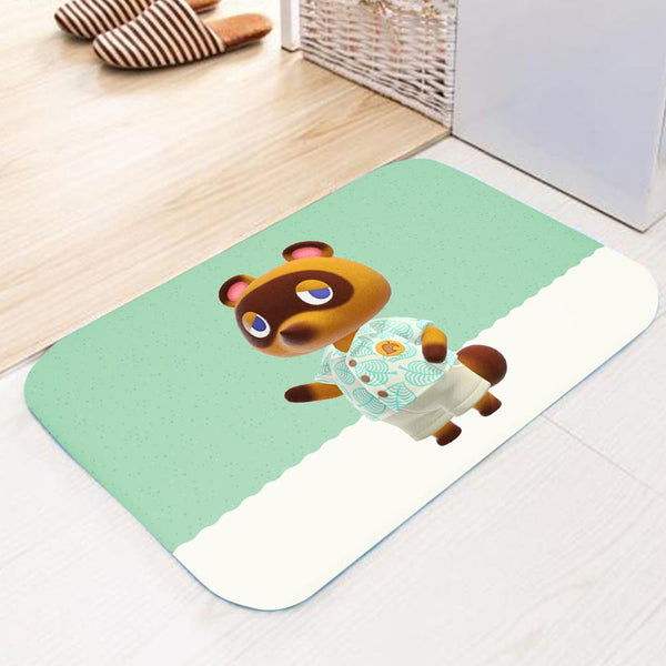 Game Animal Crossing Carpet Water-absorbing Non-slip Bathroom Bathtub Floor Mat Door Mat Home Decoration