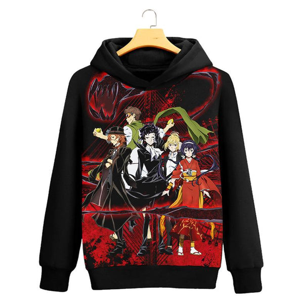 Bungo Stray Dogs Cosplay Costume Men Hoodies Pullover Cotton Sweatshirt