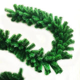 2.7M Christmas Decorations Ornaments Xmas Tree Garland Rattan Home Wall Pine For Home Party Green Artificial Wreath