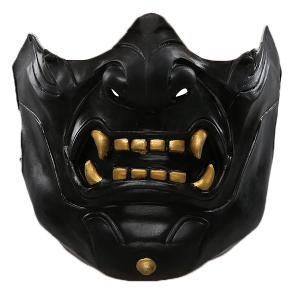 Game Ghost of Tsushima Cosplay Mask Half Face Helmet Masquerade Halloween Party Costume Props