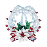 Christmas Wreath Ornaments Plastic Plant Wreath Bow Decoration Christmas Tree Ornament