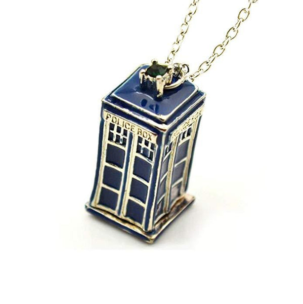 Doctor Who Inspired 3D Police Box Pendant with Chain