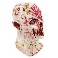 Halloween Mask Creepy Novelty Horror Zombie Full Head Deluxe Latex Mask Halloween Cosplay Prank Props