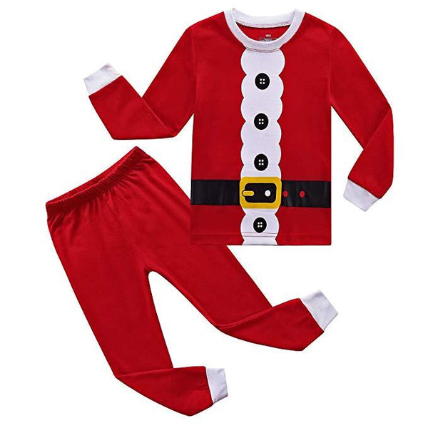 Kids Pajamas Sets Toddler Santa Christmas Cotton Sleepwears