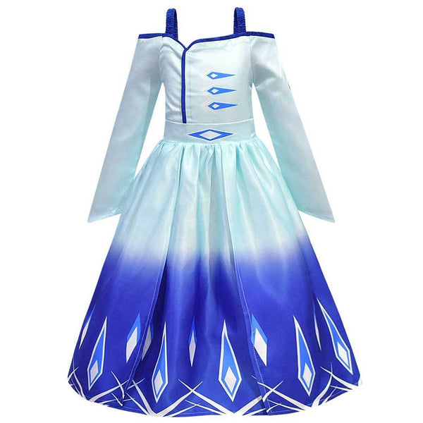 Frozen 2 Dresses Kids Girls Princess Dress Birthday Party Cosplay Queen Elsa Dress