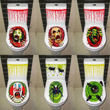 Halloween Horror Toilet Seat Cover Stickers Decoration Bar Haunted House Secret Room Decoration Props