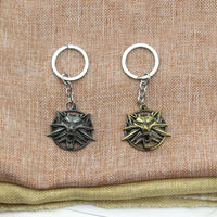 The Witcher 3 Wild Hunt Wolf Head Keychain Medallion Key Ring Game Key Chains