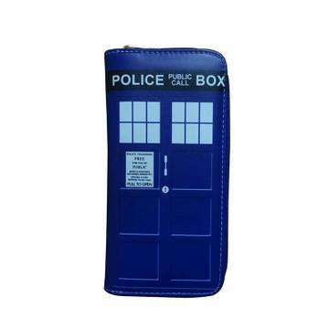 Tardis Doctor Who Police Box Blue Zipper Wallet