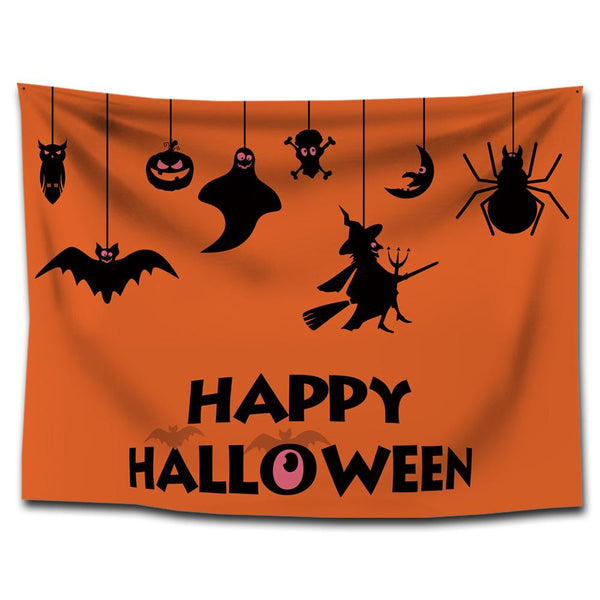 Halloween Tapestry 3D Printed HAPPY HALLOWEEN Wall Decoration Tapestries Mat Bedroom Wall Hanging Tapestry