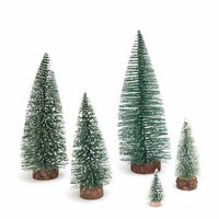 1pc Small DIY Christmas Tree Fake Pine Tree Mini Sisal Bottle Brush Christmas Tree Decoration