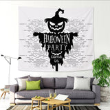 Halloween Tapestry Polyester 3D Printed Skull Pumpkin Bat Wall Decoration Tapestries Mat Bedroom Wall Hanging Tapestry