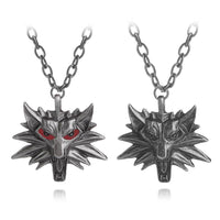 The Witcher 3 Wild Hunt Wolf Medallion Pendant Necklace Cosplay Props