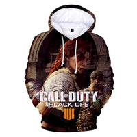 Unisex Call of Duty: Black Ops Hoodies Long Sleeve Autumn Winter Sweatshirts Pullover Clothes Tops